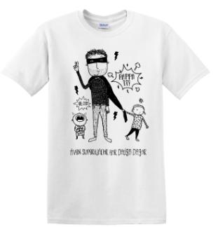 T-shirt Superhjälte Pappa - XX-Large