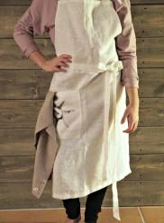 Förkläde i 100% tvättat LIN - Förkläde, oblekt, sol