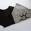 AILA Tvåfärgat linne - AILA mörkgrå/ljusgrå XL