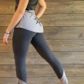 ERET Tvåfärgade långa thights - ERET mörkgrå/ljusgrå XL