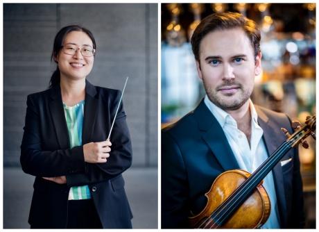 Heby-bon Duk-Kyung Chang dirigerar och stjärnviolinisten Christian Svarfvar är solist när vi för första gången tar emot en hel kammarorkester i Västerlövsta kyrka!
