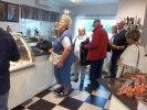 Till dessert intog flera av oss glass på Bräutigams i Fjärås! Det smakade utmärkt!