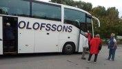 Bussfärden startade vid Skogskyrkogården med en buss från Olofssons.