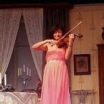 Alina Tjell kunde konsten att hantera violin!