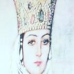 En bild av en drottning från 1200-talet.