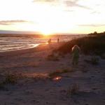 Solnedgång från Tofta Strandpensionat.