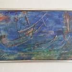 Konst med fartyg och båtar.