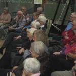 Intresset var stort bland publiken....