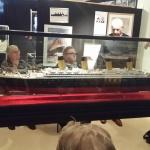 Här fanns också modeller av fartyg som fraktade emoigranter.