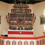 ..många sevärdheter i Landa kyrka, som....