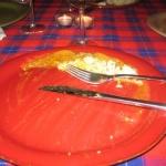 Den afrikanska kycklingen var fantastiskt god men vi hann inte fotografera den!