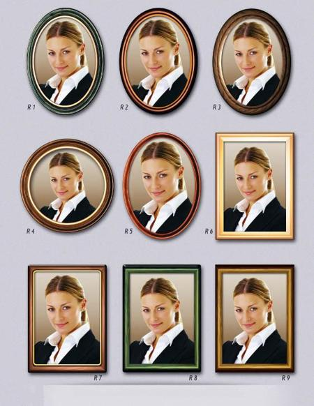 Effekt ramar till porslinsfoton