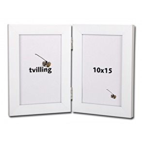 Tvillingram vit 10x15cm -