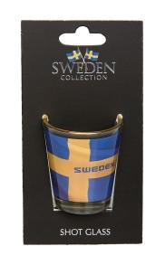 Shotglas sverigemotiv - Sverige shotglas