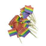 Cocktailflagga rainbow 50-pack