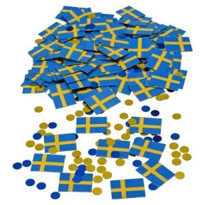 Konfettiflaggor sverige -