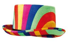 Rainbow top hat -