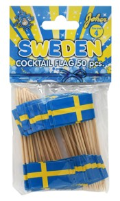 Cocktailflaggor sverige 50-P -