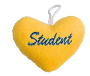 Gult studenthjärta -