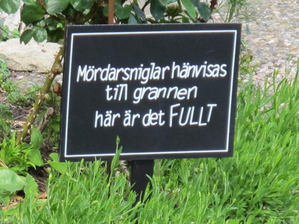 Ibland så uppenbarar sig bara skylten med stort S. Den här hittade jag i Kristianopel - en ljuvlig vårdag, maj 2013.
