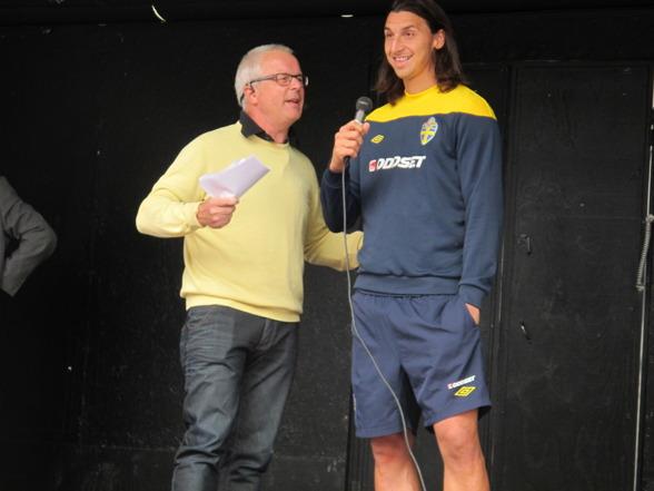 Prisutdelning med Zlatan Ibrahimovic 2012.