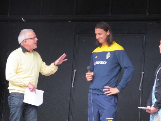Avtäckning av Walk of Fame-platta i Malmö 2012 - med Zlatan Ibrahimovic