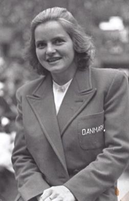 1948 Birte Hansson - Birte i den danska OL-stassen 1948