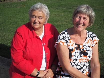 Marianne Sjöström och Marianne Stridh sommaren 2016