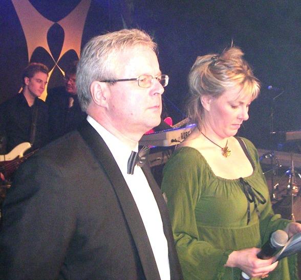 2005 Konferencier vid Mästargalan i Malmö - tillsammans med Lena Frisk. Kan sägas att vi hade roligare än vad det såg ut......