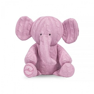 Jollein Diamond knit elefant - Rosa