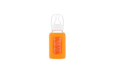 Eco Viking Glasflaska Baby Bottle Stand Neck 120 ml Orange - Eco viking glasflaska 120 ml orange