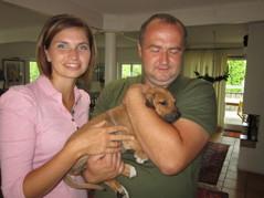 Tanja & Konstantin med sin lilla Disa