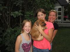 Olivia, Alicia & Anneli med lilla Diana