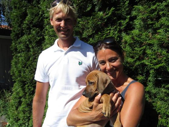 Fredrik & Pernilla med sin Dione