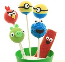 cakepops, kristyrögon, minions, kakmonstret, angrybird, egna produkter