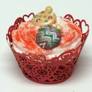 Cupcake Wraps - Röda hjärtan