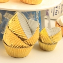 Guldmetallic muffinsform