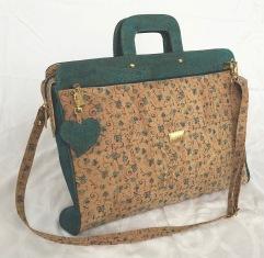 laptop väska i kork