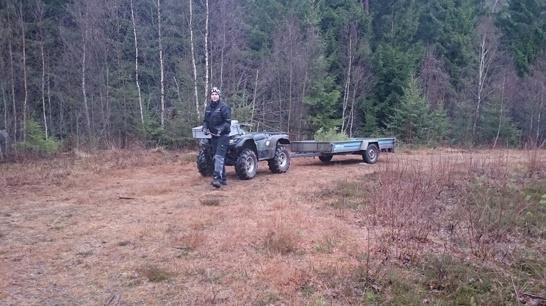 Peter och fyrhjulingen :)