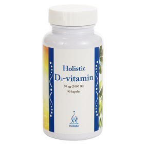 D3-vitamin 2000 IE – Holistic - 90 kapslar