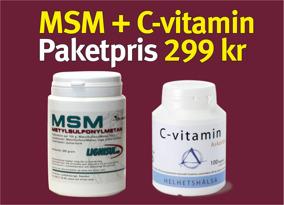 Lignisul MSM 200 + C-vitamin Askorbat - + spray
