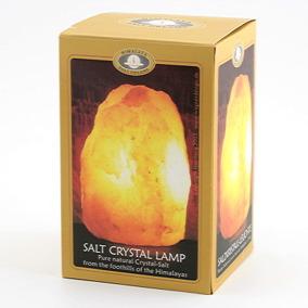 Saltstenslampa med träfot (230v) 2-3kg -