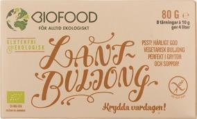 Lantbuljong Tärning Eko (glutenfri) - Tärningar 80 gram