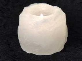 Saltsten värmelykta vit 400g -