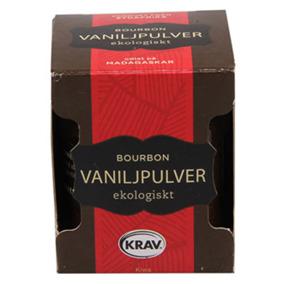 Bourbon Vaniljpulver 10g KRAV -