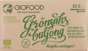 Grönsaksbuljong Tärning Jästfri Eko/Vegan -
