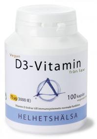 D3-vitamin VEGAN 75 µg 100 kapslar