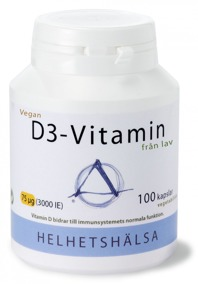 D3-vitamin VEGAN 75 mcg 100 kapslar