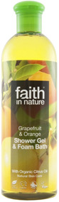 Faith in Nature - Grapefrukt & Apelsin Duschgel 400ml -