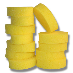 Tvättsvamp oval gul -